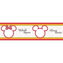 Samolepicí bordura Mickey Mouse a Minnie , 500 x 14 cm