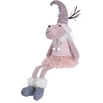 Ren de Crăciun Reindeer Girl, din pluș, 60 cm