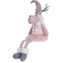 Vianočný plyšový sob Reindeer Girl, 60 cm