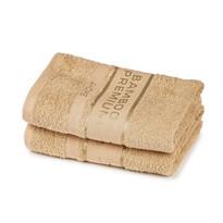 4Home Bamboo Premium törölköző, bézs, 30 x 50 cm, 2 db-os szett