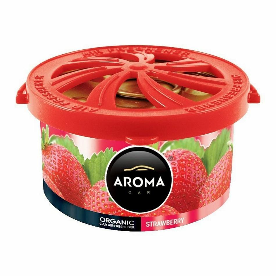 Osvěžovač Aroma Car Organic jahoda, 40 g