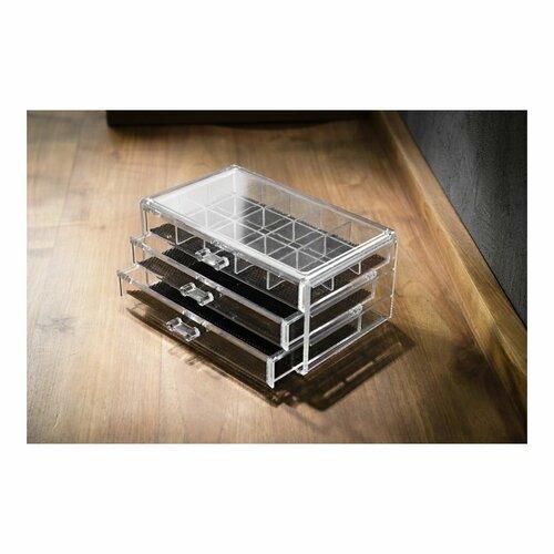 Compactor Organizér na šperky 3 zásuvky, 24 x 15 x 11 cm
