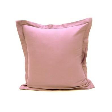 Povlak na polštářek s lemem satén světle fialová, 40 x 40 cm