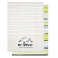 Kuchyňská utěrka Enjoy life Delicious, 50 x 70 cm, sada 2 ks