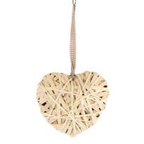 Závesná prútená dekorácia Srdce, 30 cm