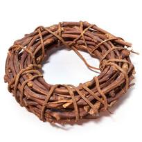 Coroniță artificială Răchită maro, diametru 30 cm