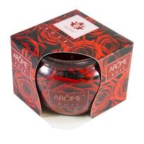 Arome Vonná sviečka v skle Rose, 85 g