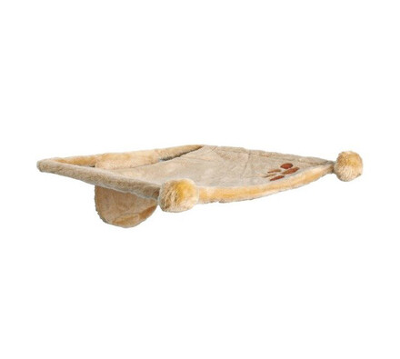 Plyšové lehátko pro kočky do zdi béžové TRIXIE, béžová, 42 x 41 x 15 cm