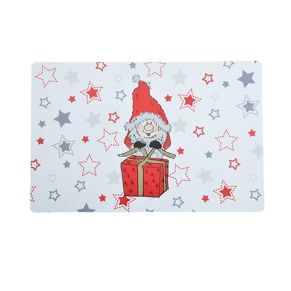 Altom Vánoční prostírání Zimní Elf s dárkem, 28 x 43 cm, sada 4 ks