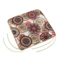 Siedzisko Adela gładkie Mandala czerwony, 40 x 40 cm