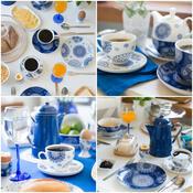 Šálek s podšálkem Blue Laces 240 ml, modrá