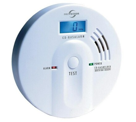 Detektor úniku CO,  Protector, Conrad, bílá, 11,8 cm