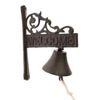 Dzwonek żeliwny Welcome, 17 x 21 x 9 cm