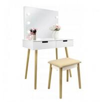 Kozmetický stolík s osvetlením Retro, 80 x 135 x 50 cm