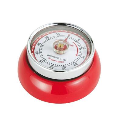 Kuchyňská magnetická minutka Speed Retro 7 x 3 cm, červená