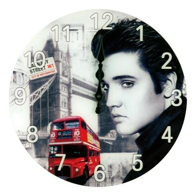 Nástěnné skleněné hodiny Elvis Presley