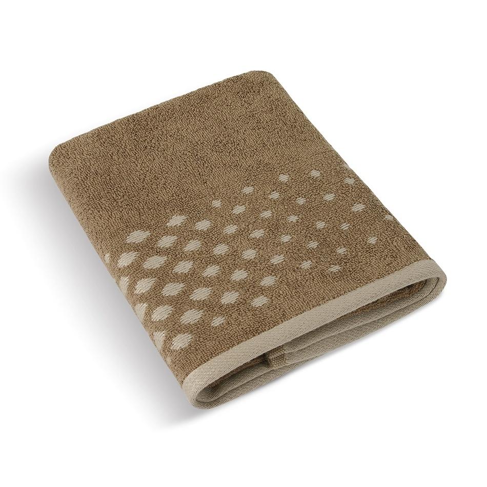 Bellatex Froté ručník Béžová řada Hnědá mozaika, 50 x 100 cm, 50 x 100 cm