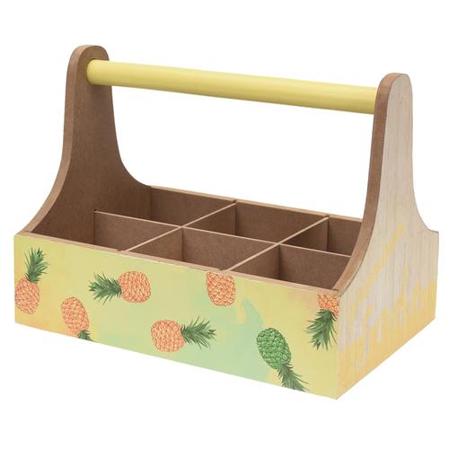 Přepravka na nápoje Wood, ananas