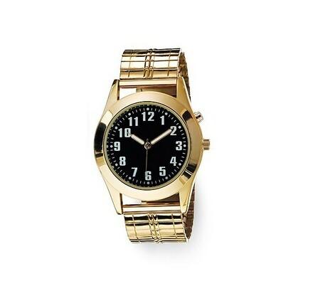 Pánské hodinky s podsvícením zlatá barva