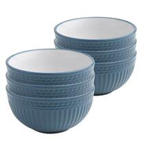 Florina Sada keramických misek Doric 14 cm, 6 ks, modrá