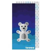 Prosop cu uscare rapidă Towee Teddy Bearalbastru, 70 x 140 cm