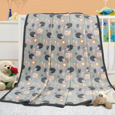 Kocyk dla dzieci Ella Jeż, 100 x 135 cm