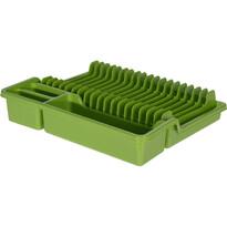 Edényszárító, 35 x 30 x 6,8 cm, zöld