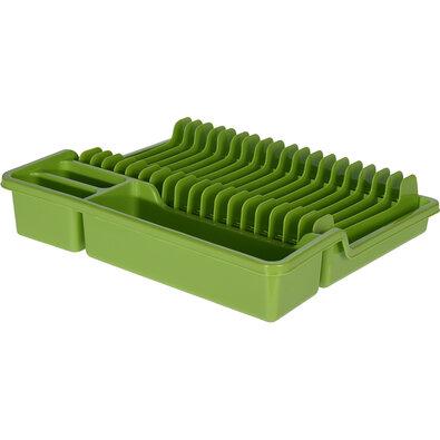 Odkapávač na nádobí, 35 x 30 x 6,8 cm, zelená