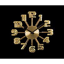 Zegar ścienny Lavvu Design Numerals złoty, śr. 37 cm