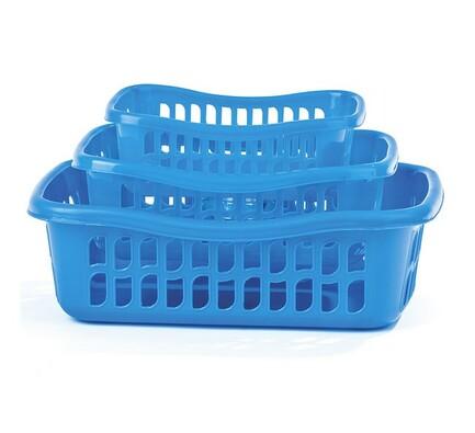 3dílná sada košíků  modrá