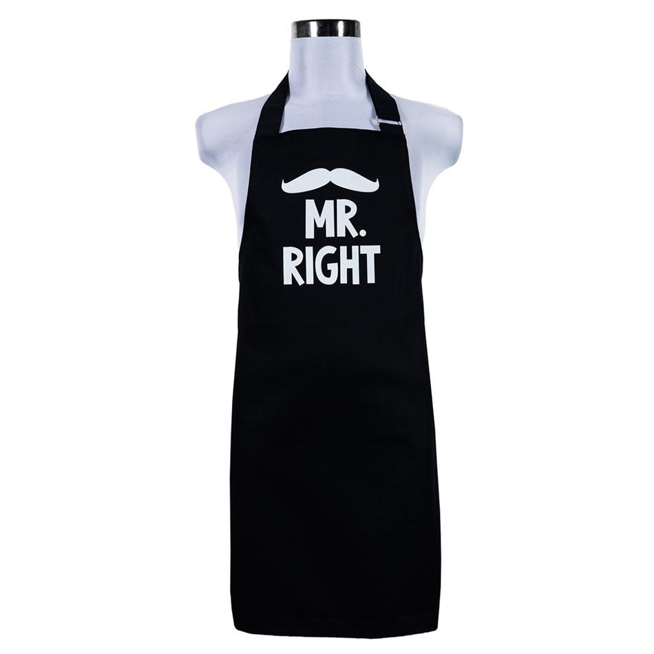 Šik v kuchyni Pánská zástěra Mr. right, 70 x 75 cm