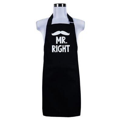 Şic în bucătărie, Şorţ bărbătesc Mr. Right, 70 x 75 cm