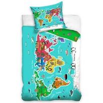 Lenjerie de pat pentru copii Continente, 140 x 200 cm, 70 x 90 cm