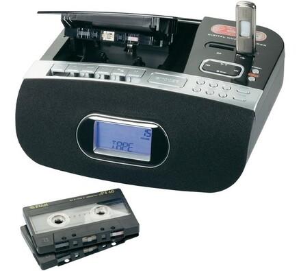 Enkodér z kazety na mp3, Concept, černá, 25 x 20,5 x 9,5 cm