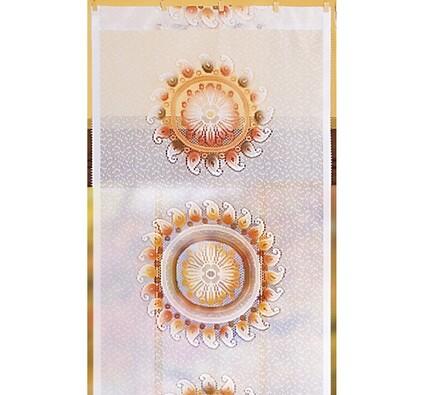 Závěsový panel Azték, bílá