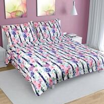 Lenjerie de pat, din crep, Floare de trandafir, 200 x 220 cm, 2 buc. 70 x 90 cm