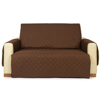 4Home Narzuta na kanapę 2-osobową Doubleface brązowa/beżowa, 140 x 220 cm