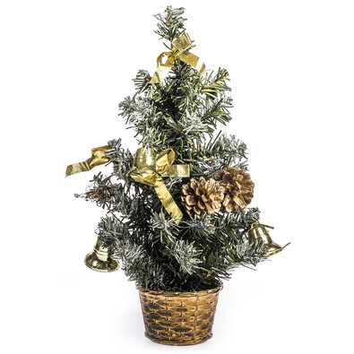 Vánoční stromeček zdobený v. 30 cm, zlatá