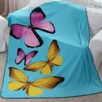 Domarex BUTTERFLY 3D takaró, türkiz, 150 x 200 cm