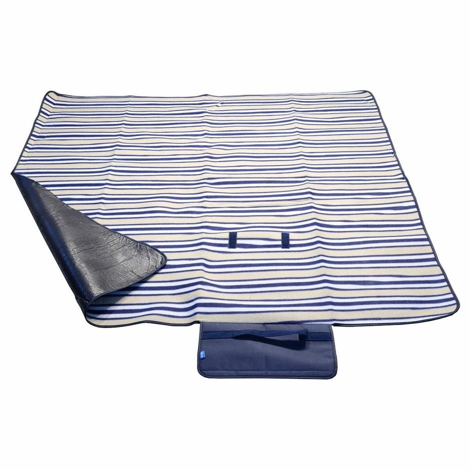 Cattara Pikniková deka Fleece modrá, 150 x 135 cm