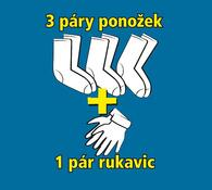 Termo rukavice a ponožky, dámské, bílá