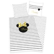 Herding Detské bavlnené obliečky Minnie Goldprint, 140 x 200 cm, 70 x 90 cm