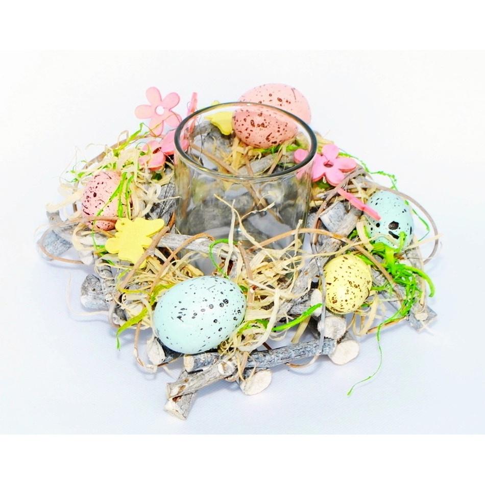 Velikonoční svícen Coloured Eggs, 16 cm