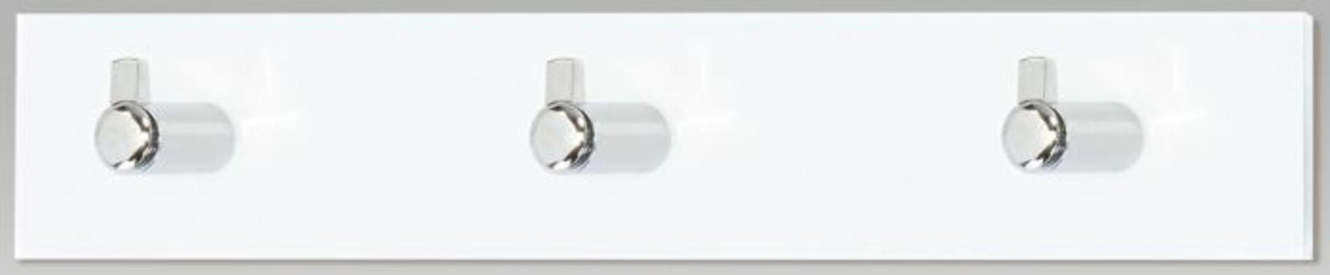 Nástenný vešiak 3 háčiky, biely akrylát