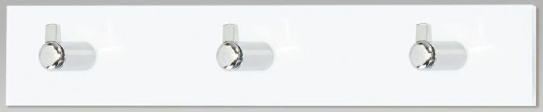 Nástěnný věšák 3 háčky, bílý akrylát, GC3503-3 WT