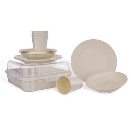 Orion Piknik műanyag étkészlet, 13 db