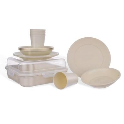 Set serviciu de masă Orion Piknik, plastic, 13 buc