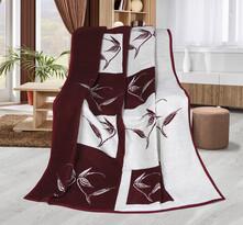 Karmela plus Növények takaró, bordó, 150 x 200 cm