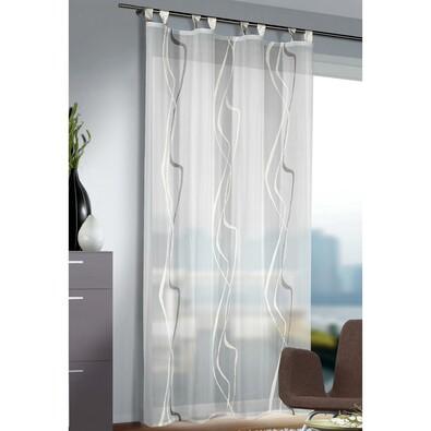 Záclona s poutky Amelie bílá, 140 x 245 cm