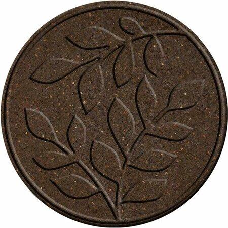 Benco Gumowa płyta do ogrodu Liście, brązowy